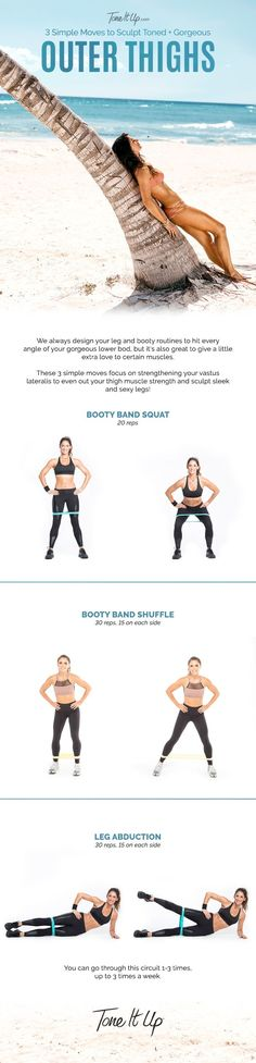 3 Simple Moves to Sculpt Toned and Gorgeous Outer Thighs from ToneItUp.com