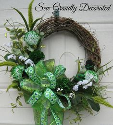 St. Patrick's Day Grapevine WreathElegant by SewGrandlyDecorated, $122.95