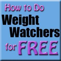 All the information you need to follow Weight Watchers - for free!                                                                                                                                                                                 More