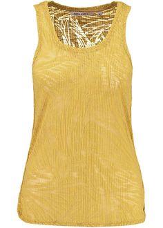 Garcia Gul Top E70009 Ladies Singlet - ochre yellow
