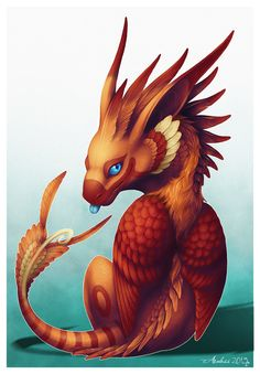 Little Shin by *Araless -- Generally I don't care for feathered dragons, but this one is the first exception!