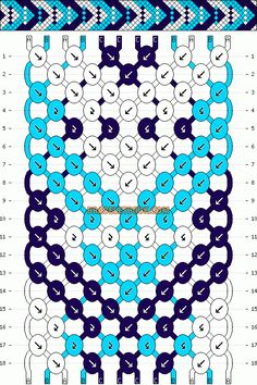 Normal Friendship Bracelet Pattern #12394 - BraceletBook.com