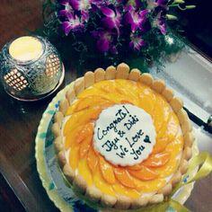 Mango LadyFinger biscuit sponge cake! #Ambrosia #Cakes