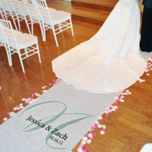 our aisle runner..obviously it doesn't say those names though lol