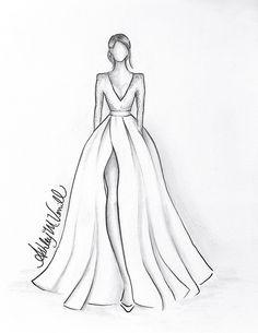 Fashion Drawing Tutorial, Fashion Figure Drawing, Fashion Drawing Dresses, Fashion Illustration Dresses, Dress Fashion, Drawing Fashion, Fashion Illustrations, Fashion Illustration Template, Croquis Fashion