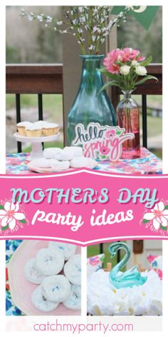 AK Party Studio's Mother's Day / Mother's Day - Mother's Day Ladies Lunch at Catch My Party Party Drinks, Party Favors, Lunch Table, Ladies Lunch, Garden Cakes, Mothers Day Cake, Rustic Cake, Beautiful Candles, Host A Party