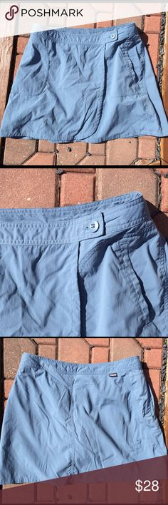Patagonia Slate Blue Running Tennis Skirt Skort Size 8. 93% nylon. 7% spandex. Super gently preowned. Be sure to view the other items in our closet. We offer both women's and Mens items in a variety of sizes. Bundle and save!! Thank you for viewing our item!! Patagonia Shorts Skorts