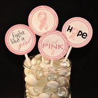 breast cancer party idea. Mason jars