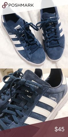 hot sale online eaa5c 96213 Adidas Campus Suede Sneaker Navy Suede Campus Sneaker. Worn twice Shoes  Sneakers