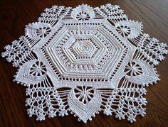 Irish Crochet Hexagon Doily