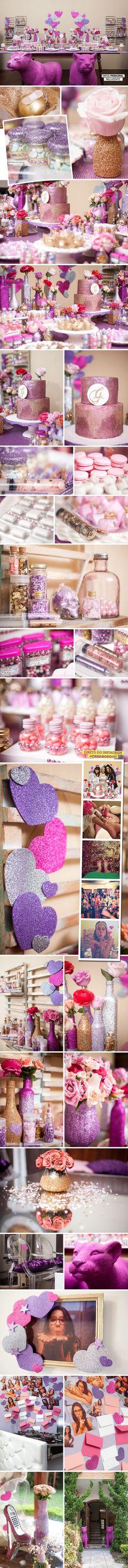 O chá da Geo teve Glitter na veia! com lindas inspirações para as noivas!!