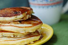 Olive Oil Blueberry Pancakes