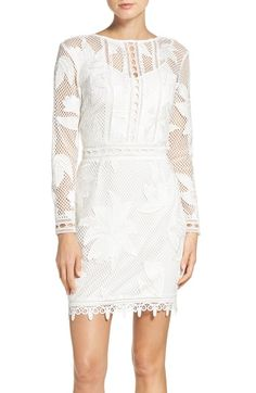 Adelyn Rae Floral Lace Sheath Dress available at #Nordstrom