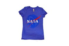 />Vintage t-shirt with subtle NASA logo. Make this your go-to favorite with the soft comfy feel right out of the box!  50% Polyester/25% Cotton/25% Rayon. Machine washable.
