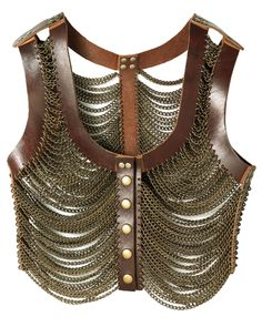 inspiration What Would Khaleesi Wear?Leather-and-metal armor vest by Society for Rational Dress for the Dothraki Chat Steampunk, Style Steampunk, Steampunk Clothing, Steampunk Fashion, Fashion Sale, Womens Fashion, Brown Vest, Fantasy Costumes, Khaleesi