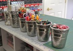 LOVE these thimble pots shown in Bitty Bits and Pieces renovated sewing studio.  SOOO want them!!