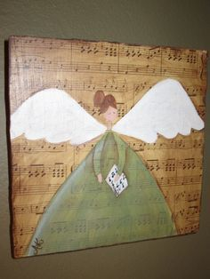 easy primitive craft ideas craftaholics anonymous craft nook tour with . Easy Primitive Crafts, Easy Crafts, Primitive Painting, Tole Painting, Christmas Angels, Christmas Art, Craft Projects, Projects To Try, Craft Ideas
