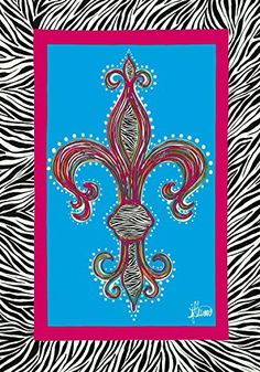 Find amazing Zebra Fleur de lis Cross - 28 Inch X 40 Inch Decorative Large Size Flag by Custom Decor zebra gifts for your zebra lover. Great for any occasion! Mardi Gras, House Flags, E Bay, Decoration, Banner, Fancy, Net, Gifts, Flowers