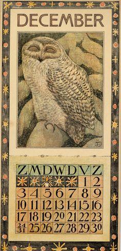 Theodoor van Hoytema, calendar 1905 december