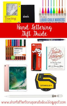 Holiday Lettering Gift Guide (& Wish List)  Interested in Hand lettering? or got a hand letterer in your life? Check out this awesome list of gift ideas that would be perfect to tuck under the tree for your favorite hand letterer. #giftguide #christmasgifts #letteringgifts @creativegifts