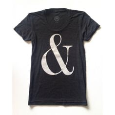 AMPERSAND TEE CHARCOAL $35- cake for breakfast
