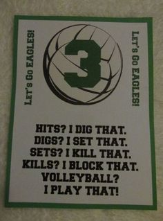 pinner said: One of the Volleyball locker decorations I that made for my daughter's team last fall Volleyball Locker Signs, Volleyball Locker Decorations, Volleyball Room, Volleyball Crafts, Volleyball Cheers, Volleyball Posters, Coaching Volleyball, Volleyball Quotes, Volleyball Ideas
