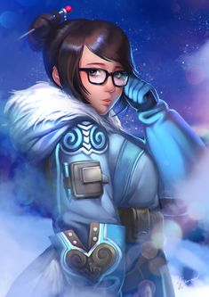 Overwatch fanart of Mei! Available during Komikon convention last year. Here's my DVA too MEI-Ling Zhou Overwatch Mei, Overwatch Fan Art, Mei Ling Zhou, Overwatch Females, Wonderland Events, Character Art, Character Design, Overwatch Drawings, Female Hero