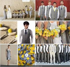 grey and yellow wedding <3 themarriedapp.com hearted <3