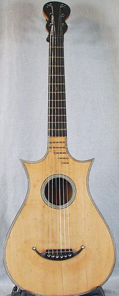Early Musical Instruments, antique Romantic Guitar by Louis Nicholas Vissenaire around 1820