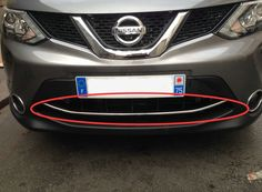 Car front grille trim auto grille decoration cover for Nissan Qashqai 2015,stainless steel