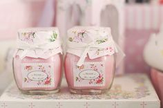 pretty jars | cute decorating / product packaging ideas