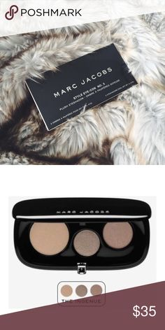 PRICE DROP NEW Marc Jacobs Eye-Con Style No. 3 NEW IN BOX Marc Jacobs Eye-Con Style No. 3 in Ingenue. Plush, silky eyeshadows with rich pigmentation and long-lasting wear. Neutrals with light shimmer. FINAL PRICE, NO OFFERS PLEASE. Offers will be countered with current reduced price. Marc Jacobs Makeup Eyeshadow