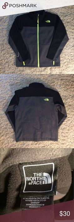 Black/Gray The North Face Windbreaker Black/Gray The North Face Windbreaker             Worn a couple times, NO damage, NO stains and Super Comfortable for the Cold weather      Size M/M(10-12) The North Face Jackets & Coats