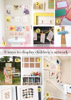 The best ways to decorate and to enjoy children's artwork without letting it overtake your life and house!