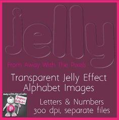 Jelly Alphabet Clip Art - Transparent Letter & Number Clipart, create unusual subtle lettering with this clip art. Ideal for older students.