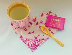 Ella & Nesta's Little Room: How to make a Folding Envelope Heart Mug Rug - Tutorial