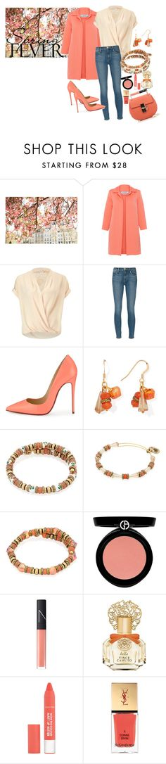 """""""Spring Fever"""" by alexandani ❤ liked on Polyvore featuring D.Exterior, Miss Selfridge, Frame Denim, Christian Louboutin, Alex and Ani, Armani Beauty, NARS Cosmetics, Vince Camuto, Yves Saint Laurent and Chloé"""