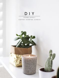 stone candle DIY