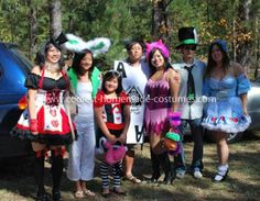 Coolest Cheshire Cat Costume: My family decided to be the characters from Alice in Wonderland. I chose the Cheshire Cat Costume. Cat Costumes, Costume Ideas, Cheshire Cat Costume, Alice In Wonderland Costume, The Cheshire, Homemade Costumes, Mad Hatters, Characters, Halloween