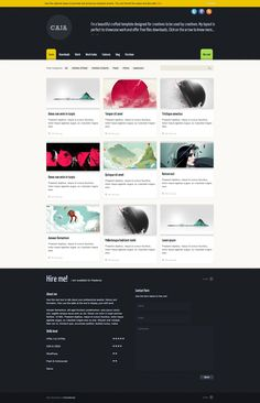 Wordpress theme perfect for creative's portfolio, showcase, downloads collections and freelancers contact page
