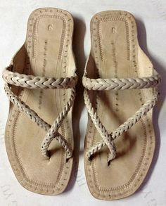 Cross Braid Leather Sandal