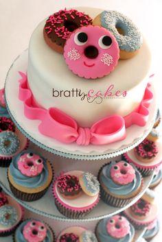 Donut+Cupcake+Tower
