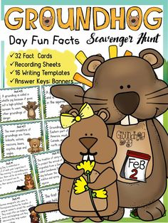 Groundhog Day: Holidays around the world: Scavenger Hunt:  Your students will enjoy learning all about Groundhog Day and groundhogs with this 32 Scavenger Hunt Fun Facts pack. www.teacherspayte...