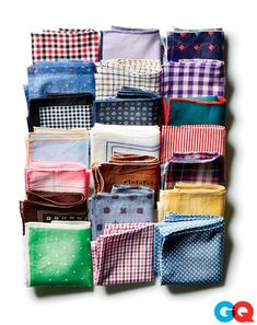 Nothing to Sneeze At The Hankie World Is Now Vast Sure, you can wear a classic white pocket square. But what Don Draper wore two seasons ago is so...two seasons ago. Now you want to get some color and texture going on. If you can imagine it, somebodys making it, from plaids to polka dots.