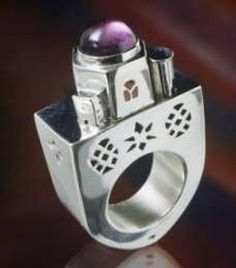 Aline KOKINOPOULOS - bague CATHEDRAL - argent amethyste