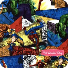 Marvel Heroes Multi Allover Characters Yardage SKU# 13010101-01