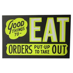 Old Store Stock Black Board Sign - EAT