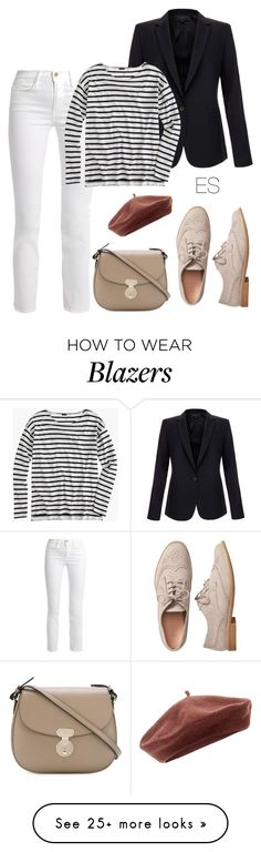 """""""Look 254"""" by ellesungte on Polyvore featuring Accessorize, Frame, Gap, Equipment, J.Crew and Giorgio Armani"""