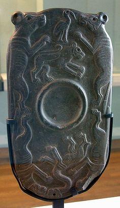The Four Dog Palette. Egypt, ca. 3300-3100 BC. Graywacke. Musée du Louvre