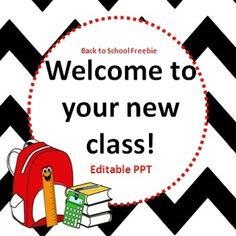 Back to School PowerPoint Freebie {editable}. This is an editable PowerPoint for the first day of school. This is used to welcome your students and to explain your rules and routines. This is just something small that might save you a bit of time :) by frieda